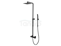 VEDO Kolumna zestaw prysznicowy z baterią mieszakową I SETTE NERO deszczownica 300x300mm / Nr KAT: VBS7007/CZ