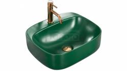 REA - Umywalka nablatowa LUIZA GREEN MAT 50