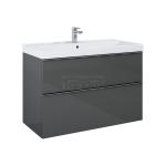 ELITA - Szafka umywalkowa szuflady LOOK 100 2S ANTHRACITE/Antracyt 167086
