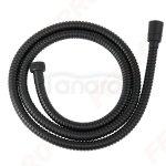 FERRO Wąż natryskowy czarny 150cm STEEL BLACK W33