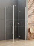 New Trendy - Kabina prysznicowa prostokątna pojedyncze drzwi składane ze ścianką NEW SOLEO PLUS / Linia Gold