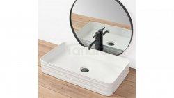 REA - Umywalka nablatowa MEZO biała