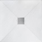 REA - Brodzik prysznicowy kwadratowy WHITE ROCK 90 x 90