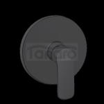 INVENA - Bateria podtynkowa natryskowa 1-funkcyjna SIROS czarna BP-90-4O1-A