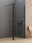 NEW TRENDY Kabina ścianka prysznicowa z ruchomymi drzwiami NEW SOLEO BLACK linia gold 50x54x195 K-0774
