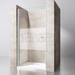 VELDMAN - Drzwi prysznicowe FB61 półmrożone 6mm Rozmiary