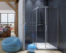 SKIENDI - Kabina prostokątna z drzwiami dwuczęściowymi rozsuwanymi LONDON KDD