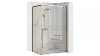 REA Kabina prostokątna narożna SOLAR GOLD 80x100 Drzwi przesuwne NOWOŚĆ!!!