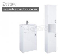 ELITA - Zestaw Łazienkowy Umywalka + Szafka + Słupek MLF 40