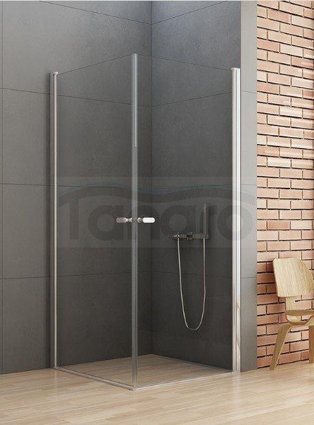 New Trendy - Kabina prysznicowa kwadratowa podwójne drzwi uchylne NEW SOLEO  / Linia Gold