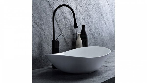 REA - Umywalka ceramiczna meblowa/nablatowa ROYAL 60 biała White