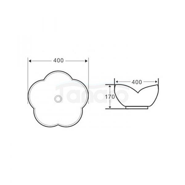 VELDMAN - Umywalka nablatowa ceramiczna ROSE