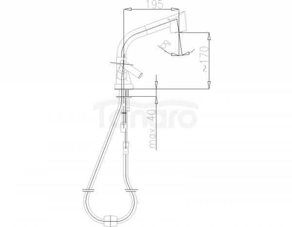 ARMATURA KRAKÓW - Harmonic bateria zlewozmywakowa stojąca 343-120-00