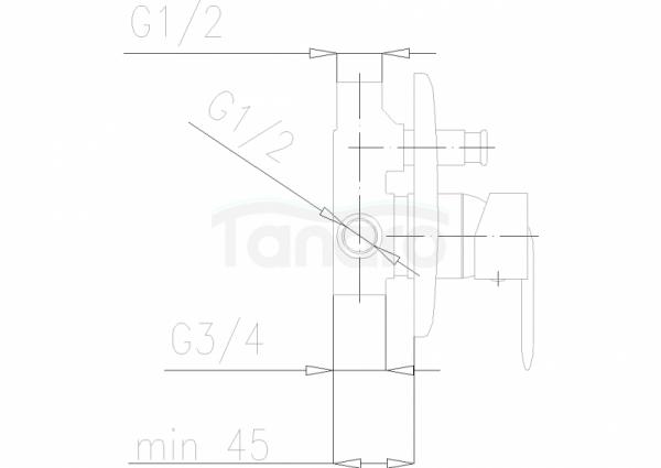 ARMATURA KRAKÓW - Cyrkon bateria wannowo - prysznicowa podtynkowa 589-410-00
