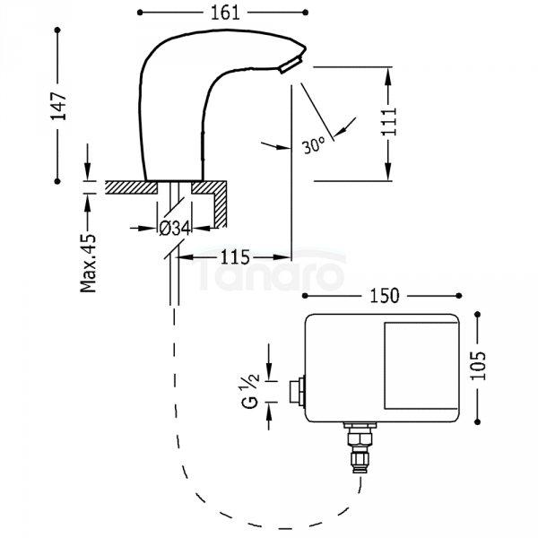 TRES - Bateria bezdotykowa TRESTRONIC Elektroniczna jednostrumieniowa 19260603