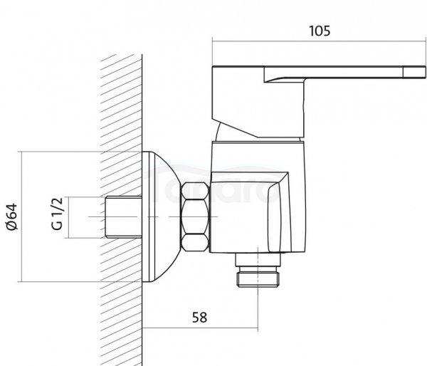 CERSANIT - Bateria natryskowa ścienna CARI Basic S951-026