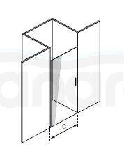 DURASAN - Drzwi prysznicowe SMART Nano Glass