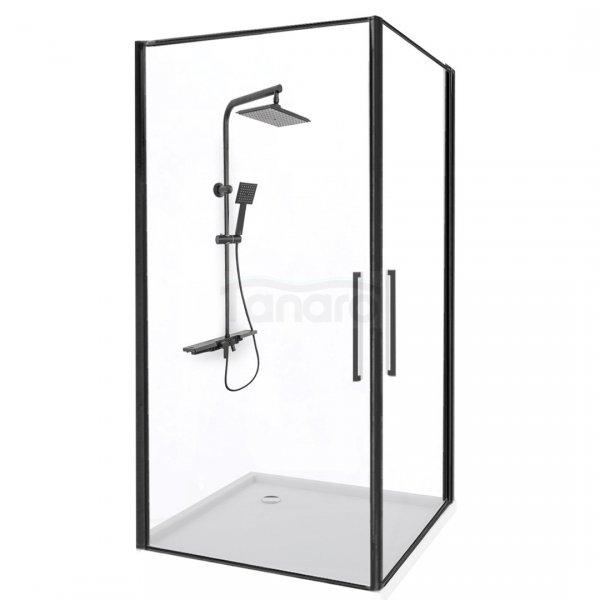 REA - Kabina prysznicowa ABRA Black Matowa 90x90