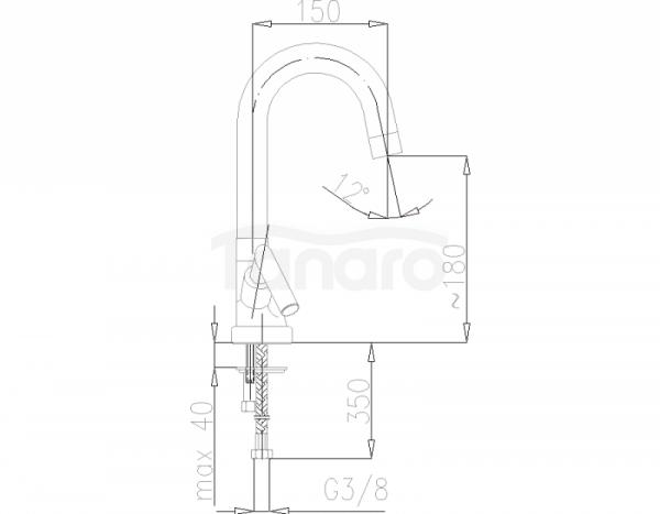 ARMATURA KRAKÓW - Harmonic bateria zlewozmywakowa stojąca 342-420-00