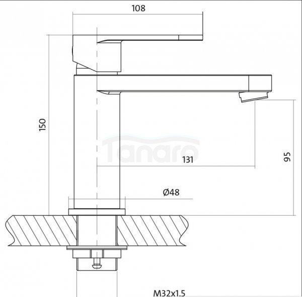 CERSANIT - Bateria umywalkowa stojąca z korkiem ELIO Solution  S951-046