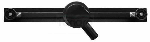 AQUALine - Odpływ liniowy podłogowy SLIM Kwadrat CZARNY Matowy Obrotowy syfon ROZMIARY 50-120cm RSK01BK
