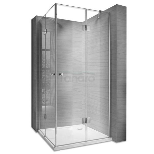 REA - Kabina prysznicowa kwadratowa WILSON podwójne drzwi EASY CLEAN PREMIUM