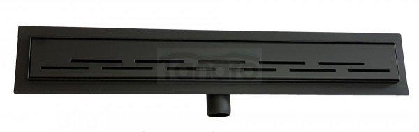 BWTECH - Odpływ liniowy NEMO CZARNY MAT/BLACK POSADZKOWY 50-120 cm