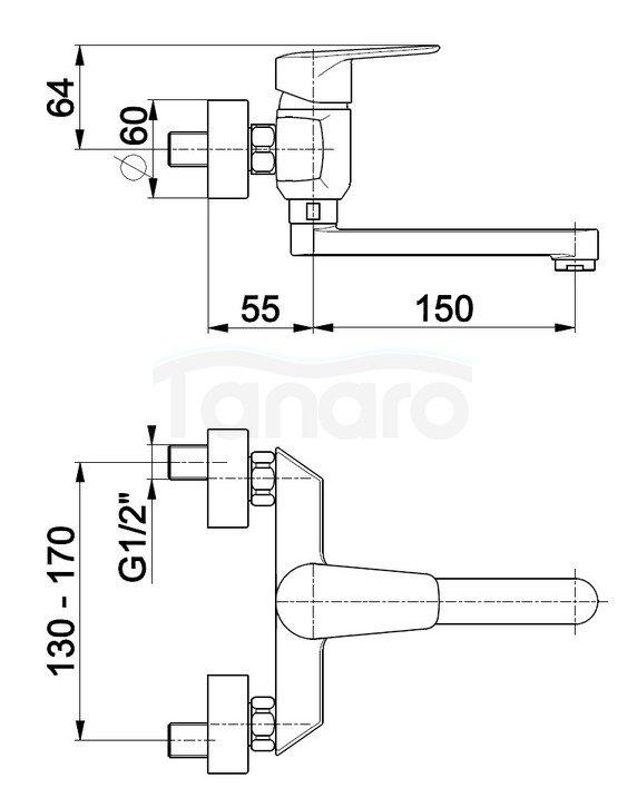 ARMATURA KRAKÓW - Bateria jednouchwytowa umywalkowa GERMAN 4510-810-00
