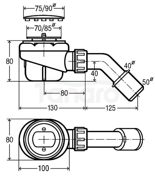 VIEGA -Syfon brodzikowy fi50 DOMOPLEX (6928)
