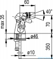 KFA RETRO bateria bidetowa CHROM   377-045-00