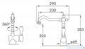 Blue Water Sycylia bateria kuchenna mosiądz antyczny 5901730610802