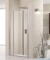 Novellini Drzwi prysznicowe harmonijkowe LUNES S 72 cm szkło przejrzyste profil srebrny LUNESS72-1B