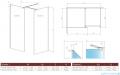 Radaway Modo New Black III kabina Walk-in 60x100x200 szkło przejrzyste 389064-54-01/389104-54-01/389000-54