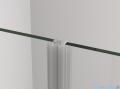 SanSwiss Cadura Black Line drzwi wahadłowe 120cm dwuczęściowe profile czarny mat CA2C1200607