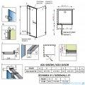 Radaway Euphoria KDJ Kabina prysznicowa 90x80 lewa szkło przejrzyste 383612-01L/383241-01L/383051-01