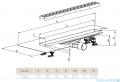 Radaway Slim Basic odpływ liniowy 65x6cm 5L065S/5R065SB