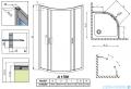 Radaway Premium Plus A Kabina półokrągła 90x90 wysokość 170cm szkło przejrzyste 30401-01-01N