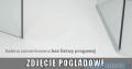 Radaway Euphoria KDJ+S Kabina przyścienna 80x80x80 prawa szkło przejrzyste 383512-01R/383221-01R/383051-01/383031-01