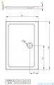Radaway Doros Plus D Brodzik prostokątny 90x80xcm SDRPD9080-01