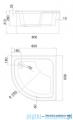Schedpol Brodzik półokrągły z siedziskiem Dante 80x80x41 3.022