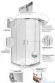 Besco Modern kabina asymetryczna z brodzikiem lewym 100x80cm przejrzyste MA-100-80-C/#BAS-100-NL