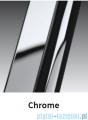 Novellini Drzwi do wnęki z elementem stałym GIADA G+F 174 cm prawe szkło przejrzyste profil chrom GIADNGF174D-1K