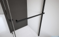Radaway Idea Black Pnj parawan nawannowy 50cm L/P przejrzyste wieszak na ręcznik