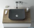 Elita Reni umywalka nablatowa ceramiczna 45x32cm Ceram Anthracite Matt 145098