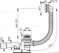 Alcaplast  syfon wannowy klik-klak, chrom A504KM-80