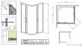 Radaway Premium Plus C Kabina kwadratowa 80x80x170 szkło fabric 30461-01-06N