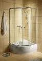 Radaway Classic A Kabina prysznicowa półokrągła z drzwiami przesuwnymi 90x90x170 szkło przejrzyste profile białe