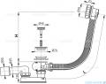 Alcaplast  syfon wannowy automatyczny chrom A55KM