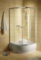 Radaway Classic A Kabina prysznicowa półokrągła z drzwiami przesuwnymi 80x80x170 szkło satinato profile białe