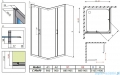 Radaway Premium Plus C Kabina kwadratowa 90x90 szkło satinato 30453-01-02N